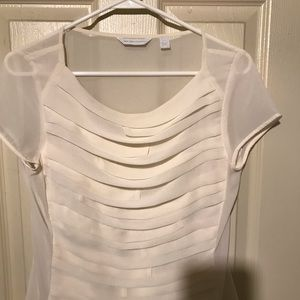 New York and Company ruffle blouse